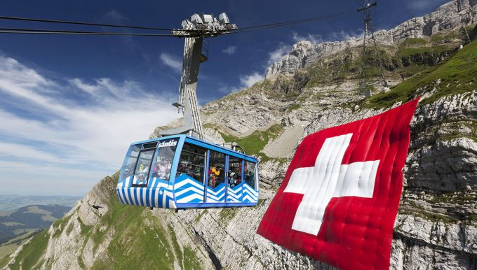 Säntis-Cablecar in Switzerland